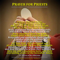 PRAYER FOR PRIESTS by St. Thérèse of the Child Jesus.