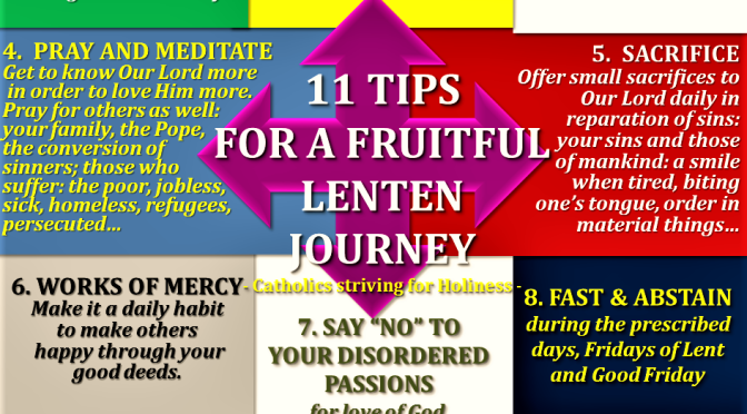 11 TIPS FOR A BLESSED AND FRUITFUL LENTEN SEASON. | Catholics ...
