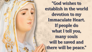 """may 13: our lady of fatima message (6): """"in the end, my immaculate"""