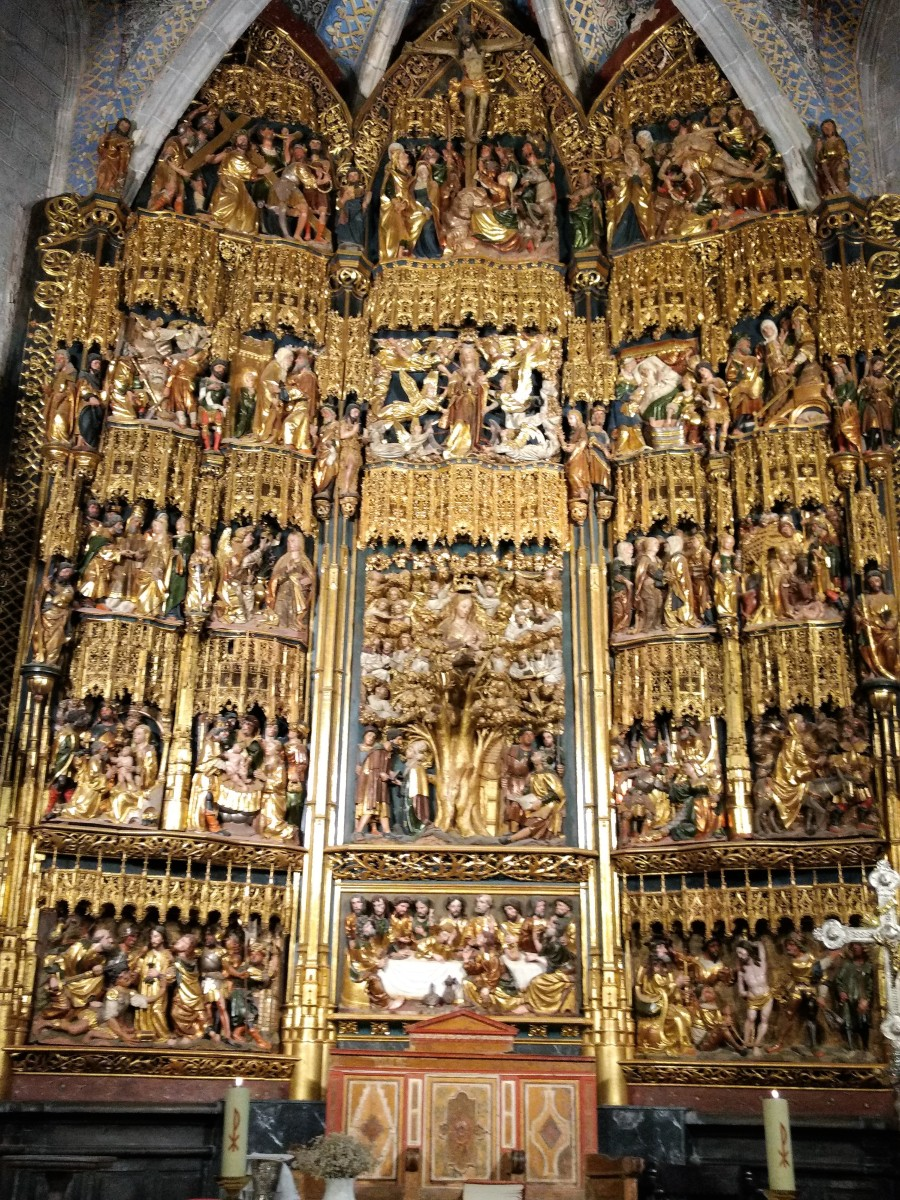 MAIN ALTARPIECE OF THE SHRINE OF LA VIRGEN DE LA ENCINA (ARTZINIEGA, ALAVA, SPAIN).
