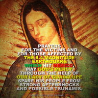 URGENT PRAYERS FOR MEXICO AND THOSE AFFECTED BY THE 8.4 MAGNITUDE EARTHQUAKE.