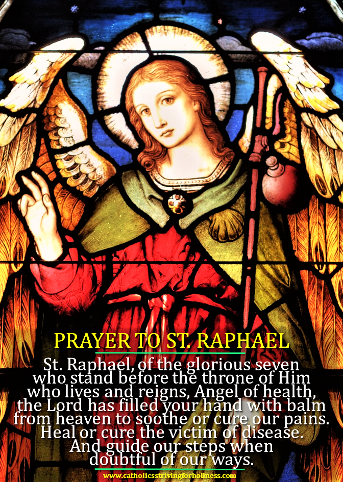 St raphael the archangel prayer for healing