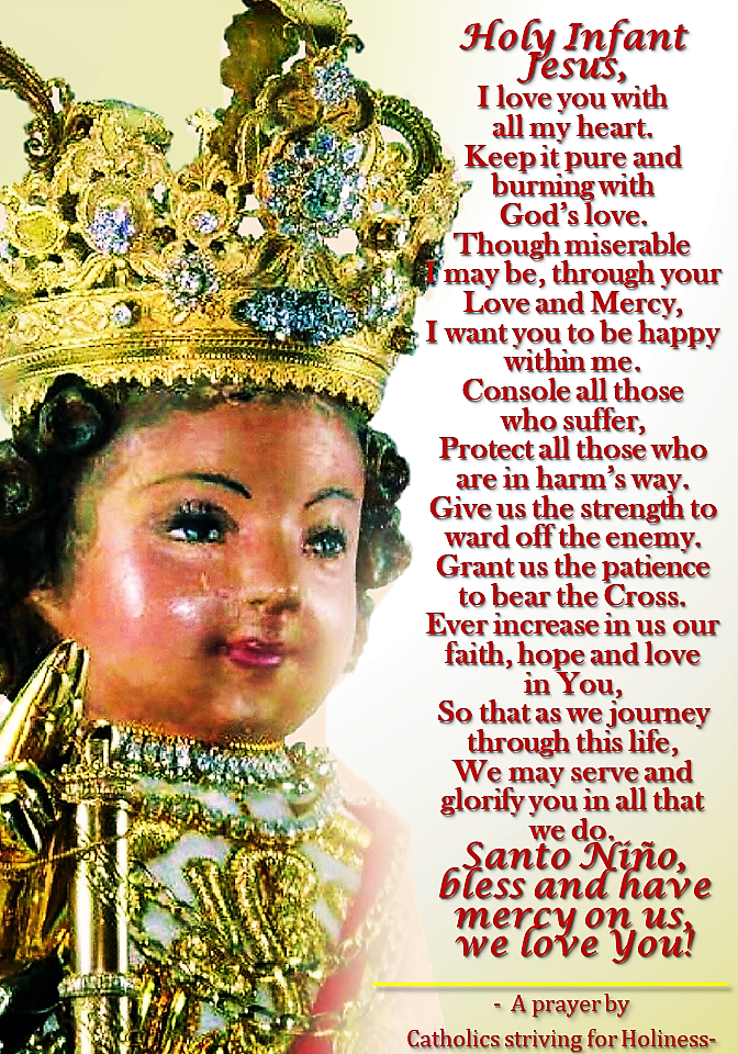 Prayer to Sto. Niño 2018 I love you with all my heart