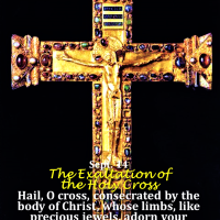 Sept. 14 THE EXALTATION OF THE HOLY CROSS. Feast Intro, Gospel reading + Divine Office 2nd reading.