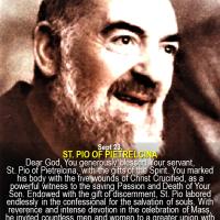 SEPT. 23: PRAYER CARD OF ST. PIO PIETRELCINA  (PADRE PIO).