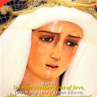 """Sept. 15: OUR LADY OF SORROWS. """"STABAT MATER"""" SEQUENCE."""
