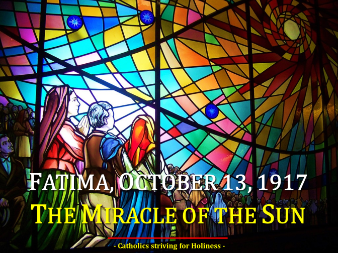 OCT. 13, 1917: THE MIRACLE OF THE SUN IN FATIMA. AV Summary. Best with sound.