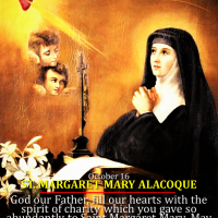 Oct. 16 ST. MARGARET MARY ALACOQUE, VIRGIN. Know the love of Christ.