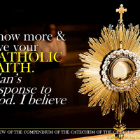 "KNOW AND LOVE YOUR CATHOLIC FAITH. Man's response to God. ""I believe"". Compendium nn. 25-32"