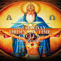 33rd Sunday Ordinary Time, Cycle A. Mass readings.