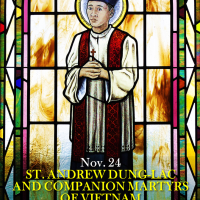Nov. 24: ST. ANDREW DUNG-LAC, PRIEST  AND COMPANIONS, MARTYRS OF VIETNAM