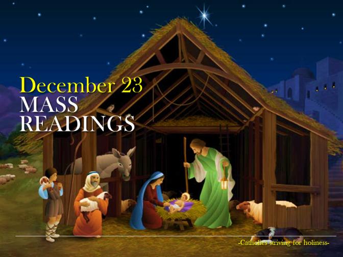 DECEMBER 23. Mass readings.