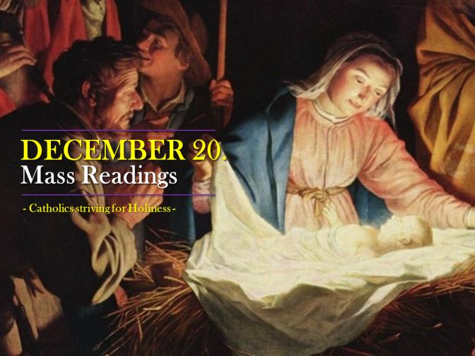 DECEMBER 20. Mass readings.