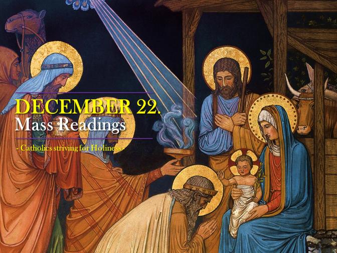 DECEMBER 22. Mass readings.