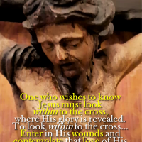 POPE FRANCIS: ENTER INTO JESUS' WOUNDS AND HEART AND CONTEMPLATE HIS GREAT LOVE AS YOU GAZE AT THE CRUCIFIX.