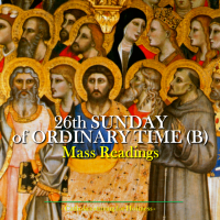 26th Sunday of Ordinary Time. Mass prayers and readings.