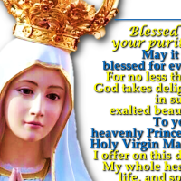 BLESSED BE THY PURITY PRAYER.