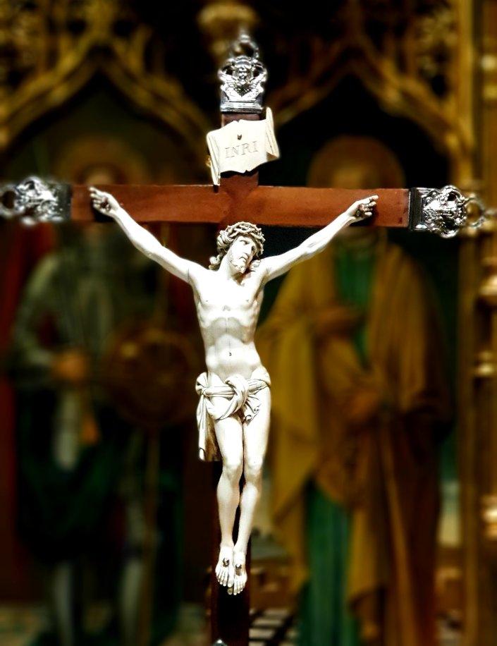 Ivory crucifix,