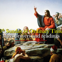 6th Sunday of Ordinary Time. Mass prayers and readings.