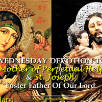 WEDNESDAY DEVOTION TO OUR MOTHER OF PERPETUAL HELP AND ST. JOSEPH, MASTER OF INTERIOR LIFE.