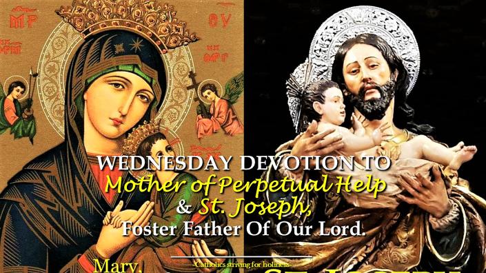 Wednesday devotion MPH and St. Joseph