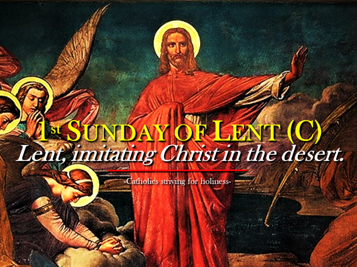 1st Lent C imitating Christ in the desert