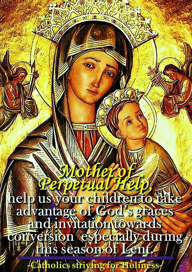 Mother of Perpetual Help Lenten prayer